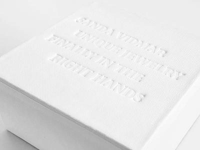 Sanda Vidmar Jewelry design packaging typography jewelrybox letterpressed jewelry brand brandidentity letterpress