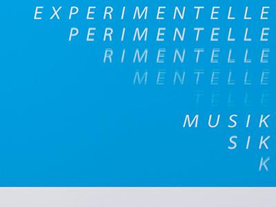 Typographic Poster Echo echo type experimental music typography typeface design poster creative