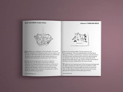 Unikat mini exhibition catalog materials promotion editorial booklet layout design graphics industrial design exhibition sketch illustration catalog