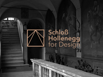 Schloß Hollenegg for Design logo branding castle brand design exhibition lines clean typography typeface symbol