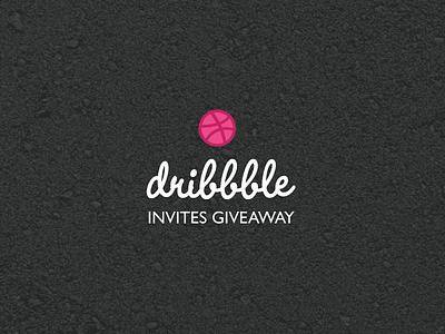 Dribbble Invites Giveaway wordmark branding free invite illustration layout graphic logo portfolio giveaway invites dribbble