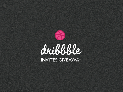 Dribbble Invites Giveaway wordmark branding free invite illustration layout graphic logo portfolio giveaway invites dribbble