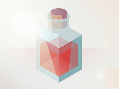 Health Potion zelda video games bottle texture lens flare illustration health potion