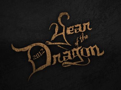 2012: Year of the Dragon type grunge