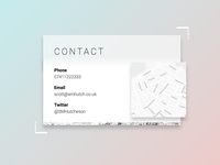Contact Page – DailyUI 028