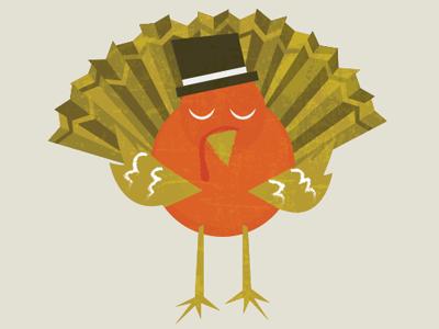 Gobble Gobble bird illustration thanksgiving turkey