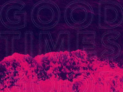 Good Times music print halftone ocean poster aiga