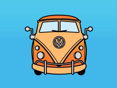 Clementine car clementine bus stop illustration vw volkswagen bus