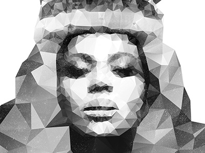 Queen Bey sorry illustration low poly polygon prism beyonce