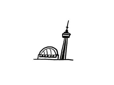 CN Tower landmark rogers centre sky dome canada illustration toronto cn cntower cn tower