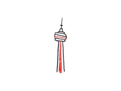 CN Tower landmark the6 tower canada illustration toronto cn cntower cn tower