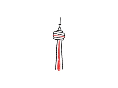 CN Tower landmark the6 tower canada illustration toronto cn cntower cn tower