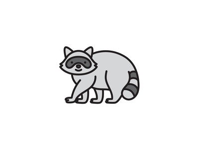 Happy raccoon animal wildlife racoon toronto illustration vector trash panda raccoon