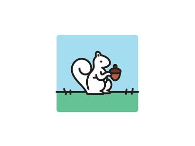 White Squirrel urban wildlife trinity bellwoods vector illustration toronto squirrel white squirrel