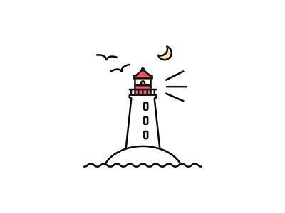 Peggy's Cove Lighthouse lighthouse nova scotia east coast canada canadian icon vector illustration