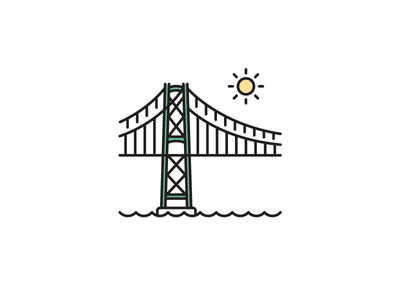 Lionsgate Bridge bridge lionsgate bridge vancouver west coast canada canadian icon vector illustration