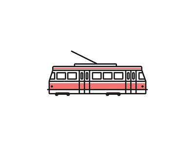 Toronto Streetcar street car public transit transportation illustration ttc toronto icon vector
