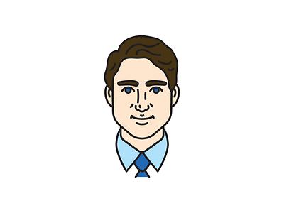 Justin Trudeau prime minister justin trudeau canada canadian icon vector illustration
