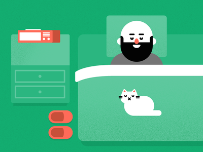 Sleep time nap snooze bed cat alarm sleep icon vector illustration
