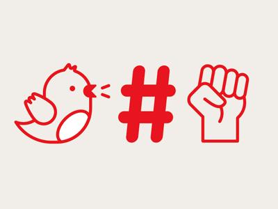 Fat Lil' Twitterbird illustration vector icons plane twitter hashtag fist bird twitterbird