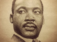 Martin Luther King Jr. portrait (pencil)