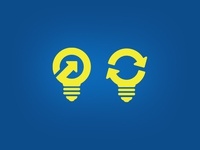 Light Bulb Recycling Logo Concepts (unused)