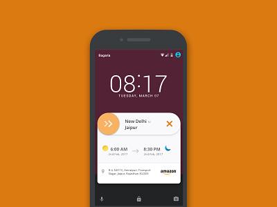 Notification Widget - Concept App for Truck Drivers notification widget flat material alert travel