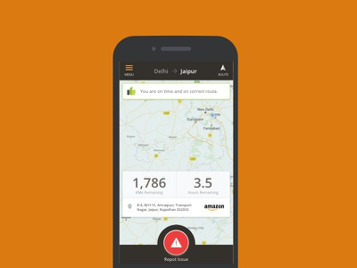 Driver App Concept: While Driving Screen recommendation navigation safety concept app driver ux