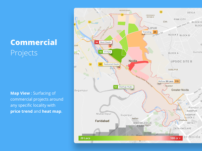 Commercial Projects Map View Concept material trends price map heat concept new 99acres commercial maps