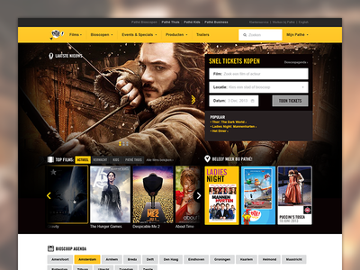 Redesign for Pathé pathé ui ux webpage website supersteil design interface redesign ticket flow