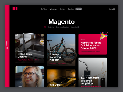 Collection page for Magento items website ui  ux design ui collection interface