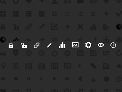 Iconset supersteil icon icons iconset glyphs ui
