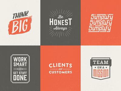 Core values logos