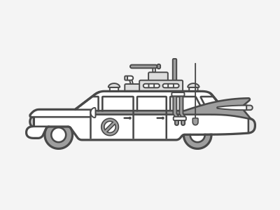 Ecto-1 ecto-1 ghostbusters illustration vector flat