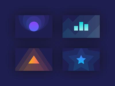 Simple geometric icons icons illustration vector minimal shapes gradient icon gradient color geometric icon