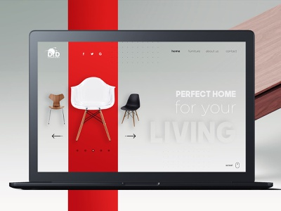 Furniture Producer ux website web design branding