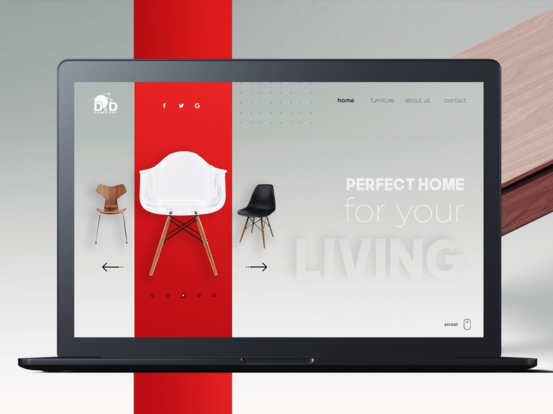 Furniture Producer ux website web design branding