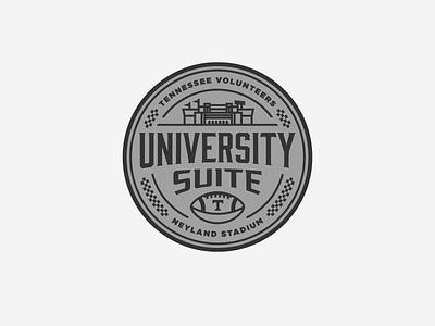 University Suite at Neyland Stadium pt. II university logo checkerboard football logo suite ncaa stadium neyland stadium football university of tennessee knoxville tennessee