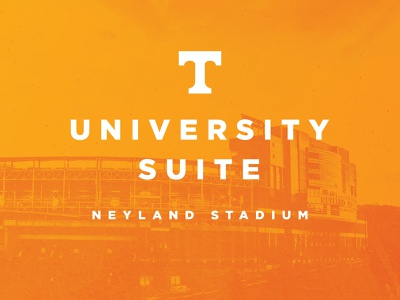 University Suite at Neyland Stadium athletics sports power t orange neyland neyland stadium knox tn checkerboard branding logo design university of tennessee knoxville tennessee