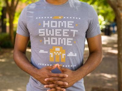 Home Sweet Home Shirt cross-stitch stitch shapes vector university of tennessee tn lettering type typography knoxville tennessee