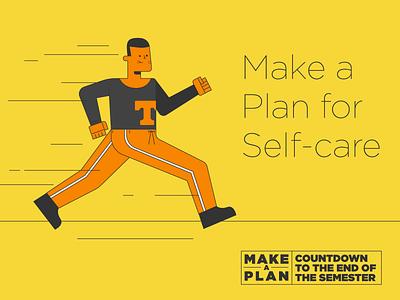 Make A Plan pt. III sprint running stress design university of tennessee knoxville tennessee illustration tn illo health wellness phone masks mask
