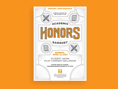 Academic Honors Banquet pt. II banquet academic honors monoline design university of tennessee handtype lettering typography knoxville tennessee