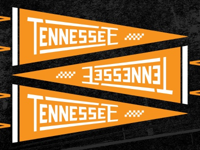 University Suite Pennant vintage checkerboard flag pennant typography type knoxville tennessee lettering