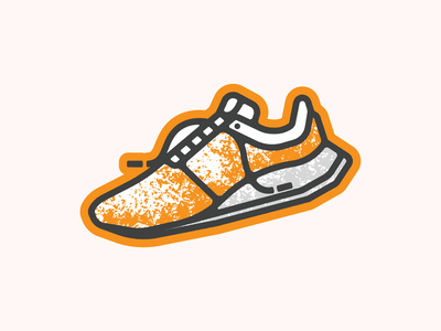 Sprint for the Print 5K sprint run running laces shoe 5k design lettering tn illustration typography type knoxville tennessee