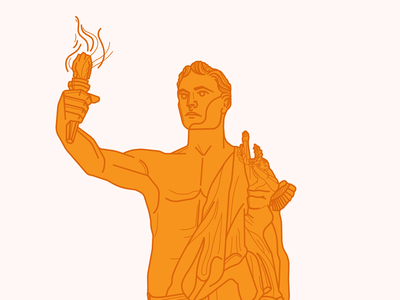 Torchbearer stare stoic statue fire torch torchbearer tn illustration knoxville tennessee