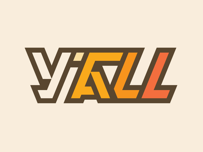 Y'all yall design tn lettering typography type knoxville tennessee