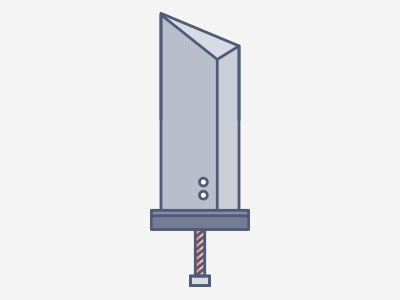 Buster Sword buster sword cloud final fantasy advent children ff7 video games