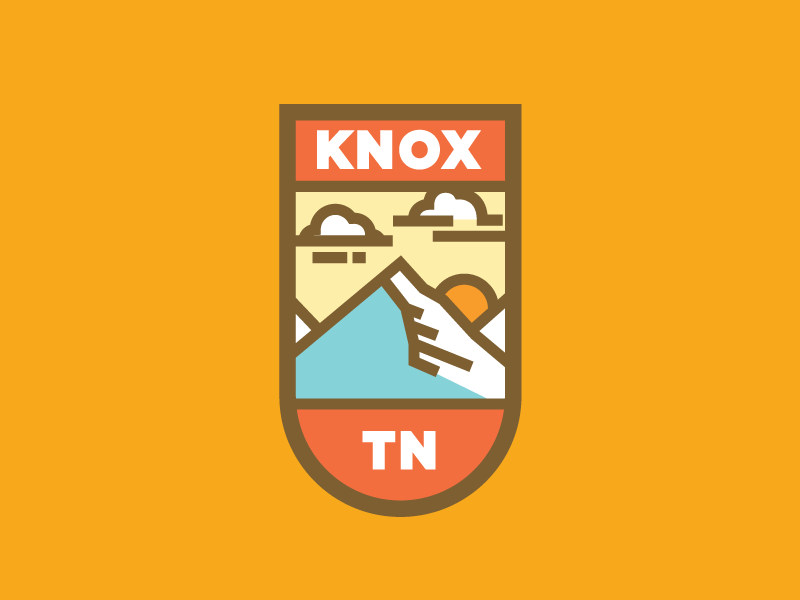 Knoxville pt. I vector pin sun sky clouds mountains tennessee tn knox knoxville