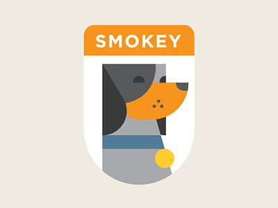 Smokey X illustration shapes university of tennessee ut hound dog smokey