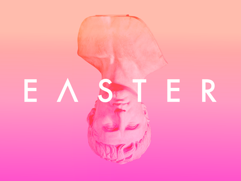 Happy Easter knoxville gradient statue rome easter jesus